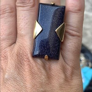 Kendra Scott Blue Goldstone Vintage Ring